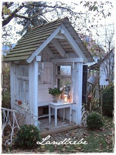 Now You Can Build ANY Shed In A Weekend Even If You've Zero Woodworking Experience! Start building amazing sheds the easier way with a collection of shed plans! Garden Buildings, Garden Structures, Outdoor Structures, Backyard Sheds, Backyard Landscaping, Cottage Garden Sheds, Garden Shed Diy, Gazebo, Pergola