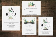 - - - > With all of our invitation sets, you can choose your own verbiage and wording placement.  **KEEP IN MIND THIS IS A PRINTABLE INVITATION -No physical item will be shipped Invitation are A7 (5x7) + RSVP cards are A2 (4.25x5.5)  INCLUDED IN THIS LISTING: Each will be in PDF format +Customized Invitation +Patterned backing for A7 invitation (as shown) +Customized 5.5x4.25 Correspondence card +Customized 5.5x4.25 Accommodation OR Direction card of your choice  HOW TO BEGIN…