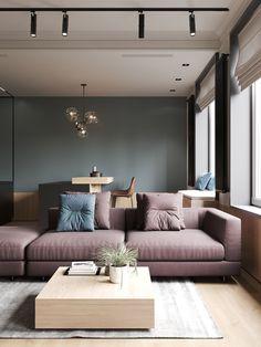 New Small Flat Interior Design Ideas For 2020 - HomyBuzz Small Apartment Design, Small Apartment Living, Apartment Interior Design, Flat Interior Design, Contemporary Interior, Interior Design Inspiration, Interior Designing, Futuristisches Design, Loft Design