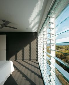 a wall of louvres