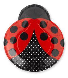 Ladybug party - ladybug plates