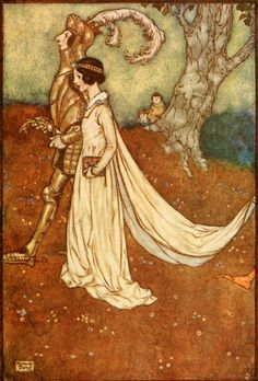 """Edmund Dulac ~ """"The Making of the Opal"""" from 'Fairies I Have Met'  by Mrs.Maud Margaret~ 1910  """"Of course, the Dear Princess... wore the great opal on the day that she was married""""."""