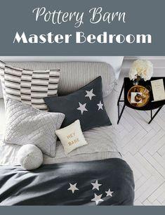 Pottery Barn - Master Bedroom -  THE EMILY & MERITT APPLIQUE STARS DUVET COVER & SHAM #potterybarn #bedroom #Masterbedroom #pillows #blankets #windows #curtains #affiliate