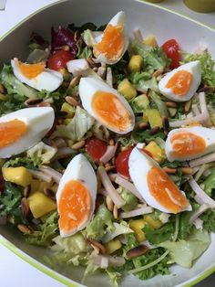Salad Recipes, Healthy Recipes, Mango, Cobb Salad, Food And Drink, Lunch, Diet, Bedroom, Kitchen