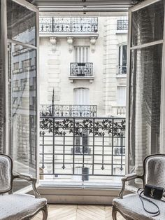 Architecture Parisienne, Parisian Architecture, French Balcony, French Windows, Farmhouse Side Table, Belle Villa, French Decor, French Chic, Interior Exterior