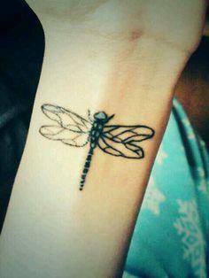 Dragonfly tattoo on wrist  - 50 Eye-Catching Wrist Tattoo Ideas  <3 <3