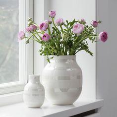 Omaggio vase Kähler Omaggio Pearl estilo nórdico diseño nórdico diseño danés decoración interiores complementos hogar cerámica de diseño cerámica danesa accesorios hogar