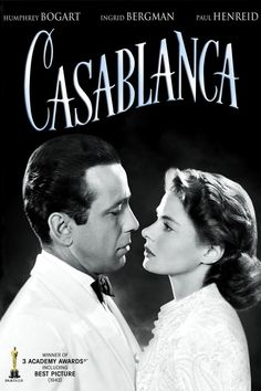 Casablanca, 1942 film by Michael Curtiz, starring Humphrey as Rick Blaine, Ingrid Bergman as Ilsa Lund, and Paul Henreid as Victor Laszlo. She famous film was mentioned numerous times in NCIS. Film Movie, See Movie, Movie List, Humphrey Bogart, Ingrid Bergman, Casablanca 1942, Casablanca Movie, Films Cinema, Bon Film