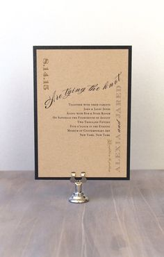 Rustic Wedding Invitation Modern Wedding Invitations by BeaconLane