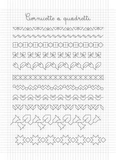 foglio 17.gif 1.365×1.890 pixel Blackwork Cross Stitch, Blackwork Embroidery, Cross Stitch Cards, Cross Stitch Borders, Hand Embroidery Stitches, Cross Stitch Designs, Cross Stitching, Cross Stitch Embroidery, Cross Stitch Patterns
