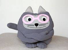 Soft toy Cat in Glasses Soft Toy Stuffed Toys Eco by ecotule