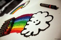 no rain no rainbows Love Rainbow, Over The Rainbow, Rainbow Cloud, Colorful Drawings, Easy Drawings, Picture Cloud, What's My Favorite Color, Rainbow Images, Future Boy
