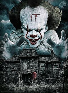 He played the role of the murderous dancing clown, Pennywise, in the hit 2017 film adaption of Stephen King's, It. And back to his scaring antics, Bill Skarsgård was seen frightening his co-star. Scary Movies, Horror Movies, Scary Wallpaper, Horror Drawing, It The Clown Movie, Pennywise The Dancing Clown, Horror Pictures, Horror Artwork, Creepy Clown