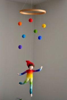 Niños habitación decoración móvil fieltro infantiles por MagicWool