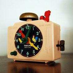 Vintage Clock Toy Alarm Clock Fairlane Time by CalloohCallay, $42.00