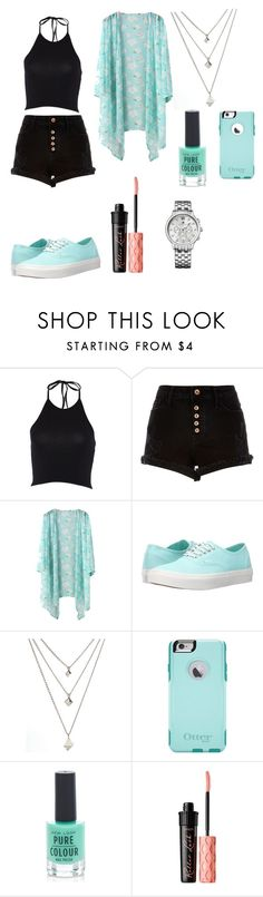 """""""Out"""" by meen16 ❤ liked on Polyvore featuring River Island, Vans, OtterBox, New Look, Benefit and Tommy Hilfiger"""