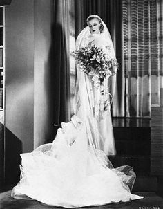 Actress, singer, artist, and dancer  Ginger Rogers was a bride five times . . . not sure which wedding this photo is from.