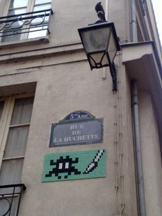 Space Invader - Paris 5, rue de la Huchette
