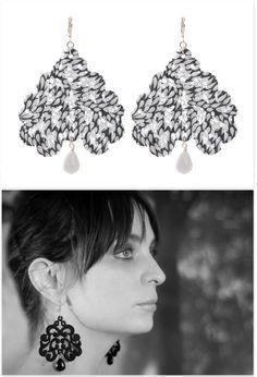Tita Bijoux - Lace Earrings 'Nuage Giccioline' Lace Earrings, Drop Earrings, Mondrian, You Look Pretty, Jewelry Making, Make It Yourself, Jewellery, Accessories, Beautiful