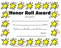 9 printable honor roll certificate templates free word pdf docu elementary school honor roll certificates yelopaper Gallery