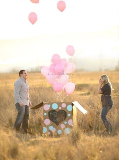 Creative Baby Gender Reveals - Share yours to win Kids Party Themes, Diy Party Decorations, Party Ideas, Baby Shower Parties, Baby Showers, Baby Gender, Baby Sprinkle, Reveal Parties, Maternity Photographer