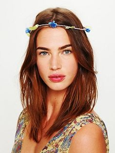 Free People Fiona Flower Halo at Free People Clothing Boutique - StyleSays