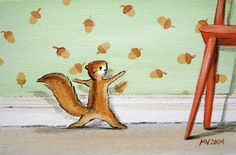 The Nutty Wallpaper PRINT by JAustinRyan on Etsy. $16.00, via Etsy. - Click through and read the description, so cute!