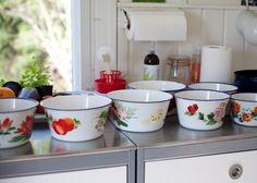 Old enamel bowls.