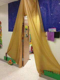 Tented door