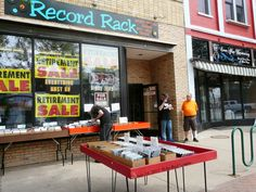 Sidewalk Day at the Record Rack