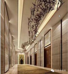 回龙观装修-海淀区装修设计-北京力鸿丰装饰工程有限公司 Farm Villa, Elevator Lobby, Corporate Interiors, Lobby Design, Marco Polo, Corridor, Lighting Ideas, Hospitality, Entrance