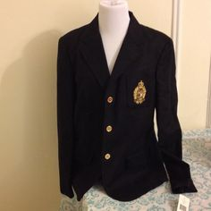 Ralph Lauren black blazer/ jacket Ralph Lauren black blazer/ jacket. New with tags. Size 16. 97% cotton. You will look extremely professional and command the room by wearing this blazer! Ralph Lauren Jackets & Coats Blazers