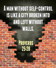 Proverbs (ESV) - A man without self-control is like a city broken into and left without walls. Bible Verses Quotes, Bible Scriptures, Faith Quotes, Scripture Verses, Book Of Proverbs, Self Control, Christian Inspiration, Biblical Inspiration, Uplifting Quotes