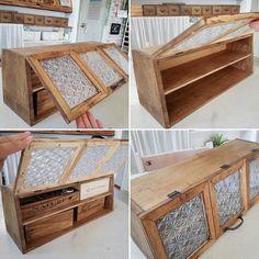 Cozy Kitchen, Kitchen Decor, Palette, Wood Design, Open Shelving, Kitchen Accessories, Wooden Boxes, Home Organization, Repurposed