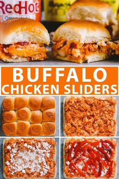 easy game day buffalo chicken sliders! an easy & crowd-pleasing game day appetizer perfect for football tailgates and parties this football season! #buffalochicken #sliders #slidersrecipe #playswellwithbutter #gameday #gamedayrecipe