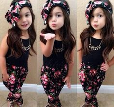 Summer style Girls Fashion floral casual suit children clothing set sl – Gifts Leads