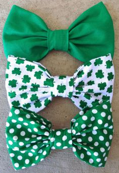 St. Patrick's Day bows
