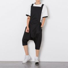 806776a7ad6 Mens Summer Loose Causal Short Overalls Pants Baggy Jumpsuit Trousers  Rompers
