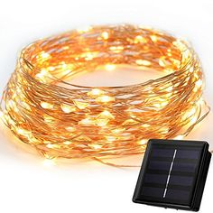 Solar Powered String Light Versatek 100 LEDs 33ft Starry String Lights Copper Wire Lights Ambiance Lighting for Outdoor Garden Pool lawn yard Party Christmas Warm White >>> Find out more about the great product at the image link.