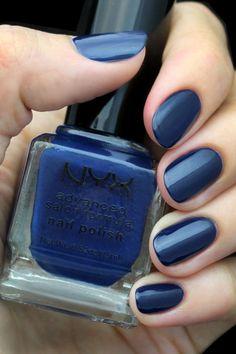 NYX Advanced Salon Formula Navy Blue Nail Polish