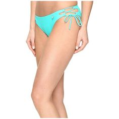 Body Glove Smoothies Tie Side Mia Bottoms (Min-T) Women's Swimwear ($47) ❤ liked on Polyvore featuring swimwear, bikinis, bikini bottoms, heart bikini, criss cross bikini, criss cross bathing suit, body glove bathing suits and bathing suits two piece