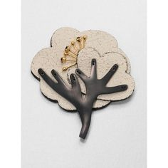 Marni Leather  Resin Tree Brooch $290