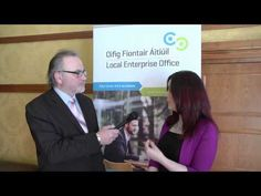 Marcella Rudden Local Enterprise Office Cavan talks to Colm Colgan
