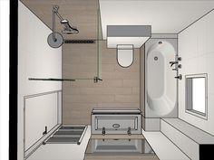 Bäder bathroom Request a free design for your bathroom or toilet -roos - Oost Small Bathroom Layout, Modern Bathroom, Bathroom Toilets, Bathroom Renos, Bad Inspiration, Bathroom Inspiration, Casas Containers, Bathroom Plans, Bathroom Design Luxury