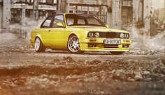 Yellow BMW