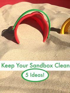 Tips to help keep the sandbox clean all summer long!