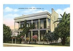 Jefferson Davis home - New Orleans, LA My Family History, Us History, Gothic Revival Architecture, Jefferson Davis, Louisiana History, Southern Heritage, Confederate States Of America, Historical Photos, New Orleans