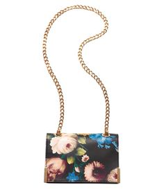 Badgley Mischka floral printed leather handbag