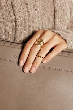 Jennifer FisherZig Zag gold-plated phalanx ring