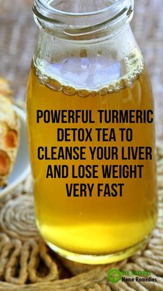 Here is a Powerful Turmeric Detox Tea To Cleanse Your Liver & Lose Weight Fast at home! This is one of the best liver cleansing drink to date that actually gets results fast! Weight Loss Detox, Weight Loss Drinks, Fast Weight Loss, Healthy Weight Loss, Weight Loss Smoothies, Weight Loss Plans, Breakfast Smoothies For Weight Loss, Weight Loss Workout Plan, Weight Loss Tea